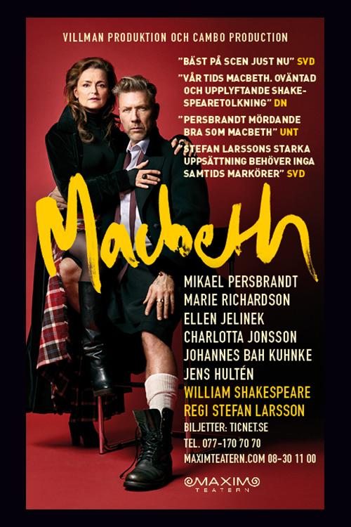 Macbeth med mikael persbrandt pa maximteatern